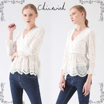 Chicwish Peplum Cropped Plain Cotton Medium Elegant Style