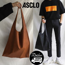 ASCLO Street Style Plain Leather Messenger & Shoulder Bags