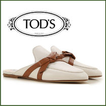 TOD'S Round Toe Leather Sandals