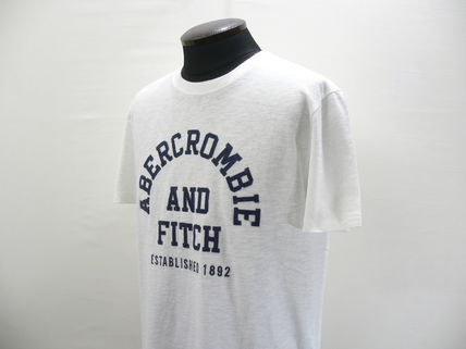Abercrombie & Fitch Crew Neck Crew Neck Street Style Cotton Short Sleeves Logo Surf Style 3