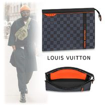 Louis Vuitton DAMIER 2017-18AW DAMIER COBALT CANVAS CLUTCH cobalt one size clutch