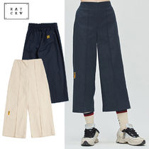 ROMANTIC CROWN Casual Style Plain Cotton Culottes & Gaucho Pants