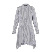 Louis Vuitton Stripes Unisex Long Sleeves Cotton Long Shirt Dresses