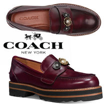 Coach Flower Patterns Platform Plain Toe Casual Style Studded