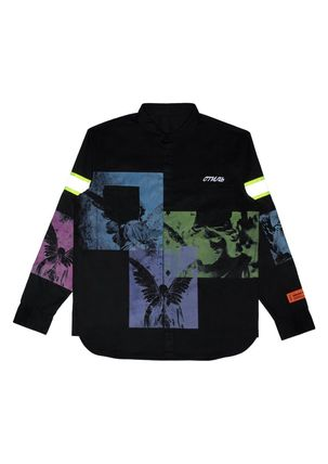 Street Style Collaboration Long Sleeves Cotton Logo Shirts
