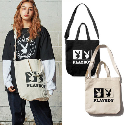 Casual Style Unisex Canvas Street Style Collaboration A4