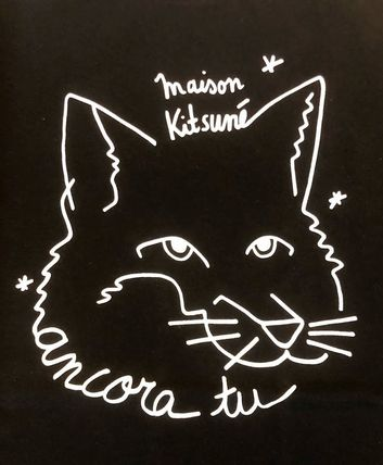 MAISON KITSUNE Crew Neck Crew Neck Unisex Other Animal Patterns Cotton Short Sleeves 3