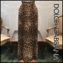 Dolce & Gabbana Leopard Patterns Long Elegant Style Culottes & Gaucho Pants