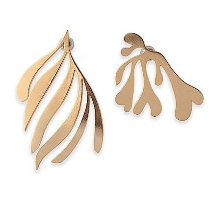 Handmade With Jewels 14K Gold Elegant Style Earrings