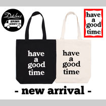 have a good time Unisex Street Style Plain Shoppers