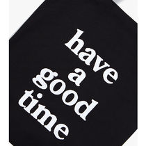have a good time Unisex Street Style Plain Logo Shoppers