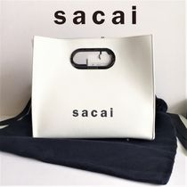 sacai Casual Style Vanity Bags Plain Leather Bags