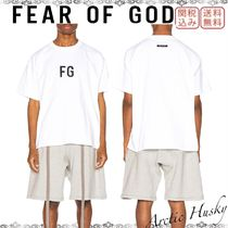 FEAR OF GOD Crew Neck Unisex Street Style Plain Cotton Short Sleeves