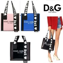 Dolce & Gabbana Casual Style Plain PVC Clothing Totes