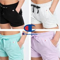 CHAMPION Short Casual Style Street Style Plain Cotton