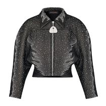 Louis Vuitton Short Wool Blended Fabrics With Jewels Oversized Jackets