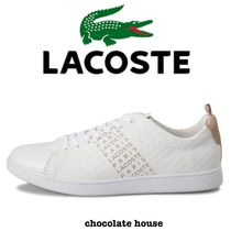 LACOSTE Unisex Other Animal Patterns Leather Low-Top Sneakers