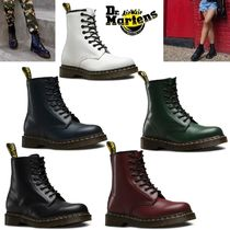 Dr Martens Casual Style Unisex Street Style Plain Leather Boots Boots