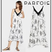 PARFOIS Casual Style Other Animal Patterns Long Slip Dresses Dresses
