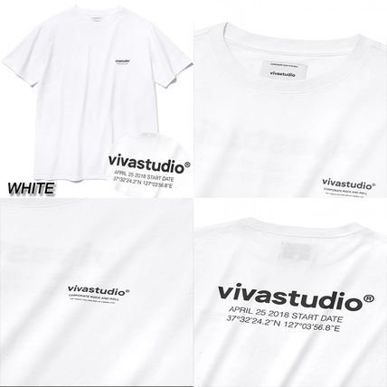 vivastudio Crew Neck Crew Neck Unisex Street Style Cotton Short Sleeves 3