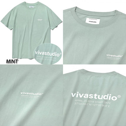 vivastudio Crew Neck Crew Neck Unisex Street Style Cotton Short Sleeves 5