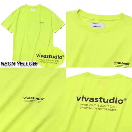 vivastudio Crew Neck Crew Neck Unisex Street Style Cotton Short Sleeves 6