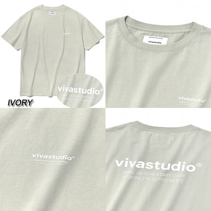vivastudio Crew Neck Crew Neck Unisex Street Style Cotton Short Sleeves 7