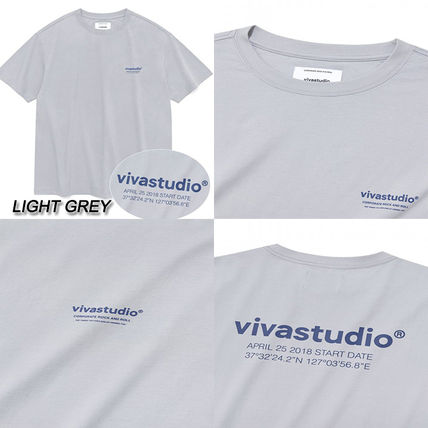 vivastudio Crew Neck Crew Neck Unisex Street Style Cotton Short Sleeves 8