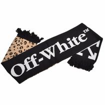 Off-White Leopard Patterns Street Style Scarves
