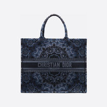 Christian Dior BOOK TOTE Casual Style Canvas A4 2WAY Totes