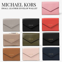 Michael Kors Plain Leather Folding Wallets