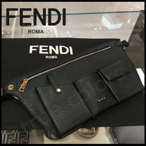 FENDI Plain Leather Messenger & Shoulder Bags
