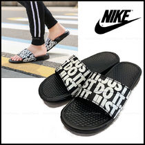 Nike BENASSI Unisex Shower Shoes Logo Shower Sandals