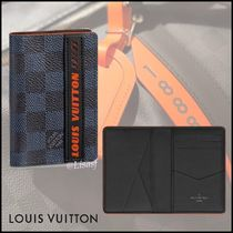 Louis Vuitton DAMIER COBALT Other Check Patterns Canvas Blended Fabrics Street Style