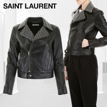 Saint Laurent Star Casual Style Studded Street Style Plain Jackets