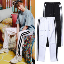 WV PROJECT Casual Style Unisex Street Style Plain Long Oversized Pants
