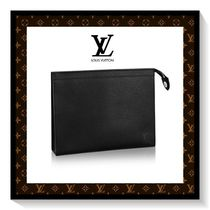 Louis Vuitton Unisex Plain Leather Wallets & Small Goods