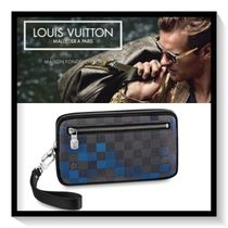 Louis Vuitton Other Check Patterns Unisex Canvas Wallets & Small Goods