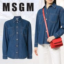MSGM Casual Style Long Sleeves Plain Cotton Medium
