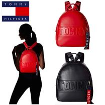 Tommy Hilfiger Casual Style Street Style Plain PVC Clothing Backpacks
