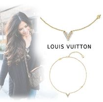 Louis Vuitton 2019-20AW ELEGANT V MOTIF NECKLACE gold free necklace