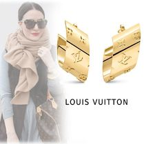 Louis Vuitton 2019-20AW MONOGRAM FLOWER MOTIF PIERCINGS gold free