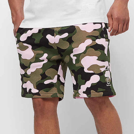 Printed Pants Camouflage Sweat Street Style Shorts