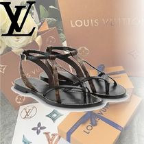 Louis Vuitton Monogram Open Toe Casual Style Leather Sandals