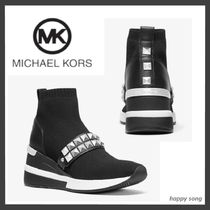 Michael Kors Platform Casual Style Studded Leather