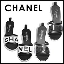 CHANEL Open Toe Casual Style Plain Shoes