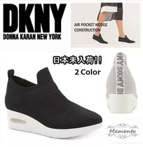 DKNY Platform Casual Style Street Style Plain Slip-On Shoes