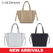 J & M Davidson Belle Casual Style Calfskin Blended Fabrics Studded Street Style