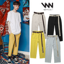 WV PROJECT Unisex Street Style Plain Cropped Pants