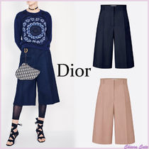 Christian Dior Silk Plain Medium Elegant Style Culottes & Gaucho Pants
